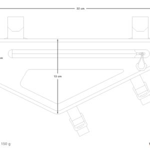 Sacoche de cadre Bikepacking APIDURA BACKCOUNTRY 2 Litres